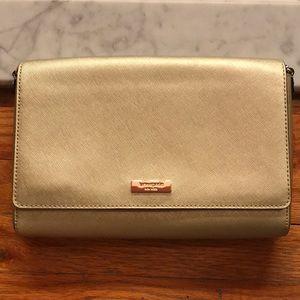 New Kate Spade gold purse